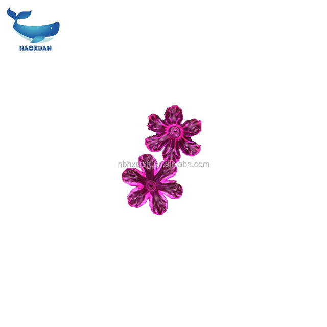 HXSJ0006 HAOXUAN Flower Shaped Crystal Glass Beads For Making jewelry