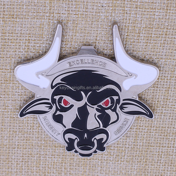 2016 military training souvenir coin / cow head challenge coin with free sample