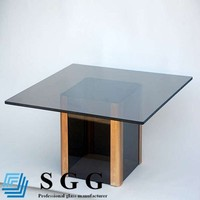 Bronze glass console table top