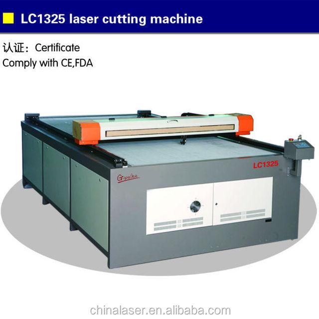 G.WEIKE flat bed laser cutter LC1325 paper laser cutting machine laser cut photo frames
