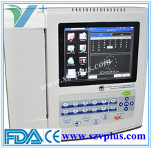 LCD Color Display Digital12 Channel ECG machine model: ECG 1200G with printer