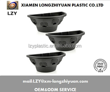 wall mounted plastic plant storage basket