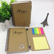 a4 a5 wholesale Eco cheap bulk printed spiral notebook with pen