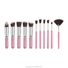 2017 new product 11pcs Hot sale cosmetic 10pcs makeup brush set