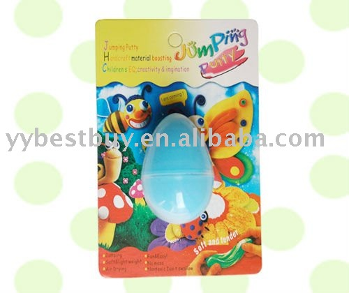egg shaped play dough/jumping putty set