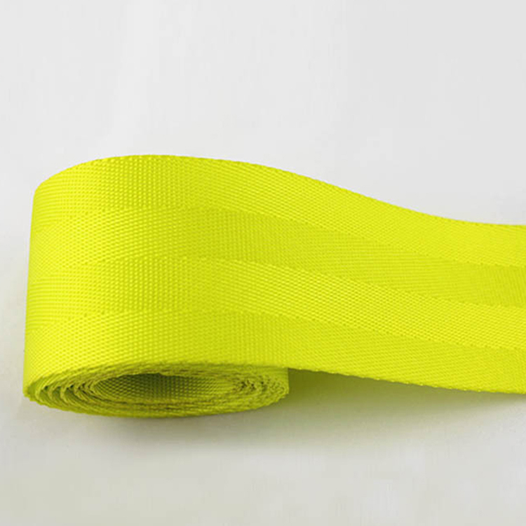 Fluorescent color thick polyester car safety seat belt webbing