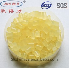 Coated hot melt adhesive for decorative paper