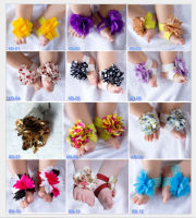 TOP BABY Sandals Barefoot Sandals Foot Ties girls Toddler flower Shoes