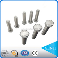 High strength and tensile stainless steel m18 m24 astm 307a hex bolt