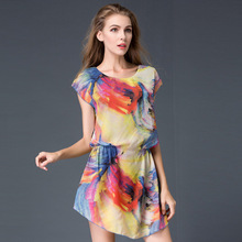 B10887A cheap wholesale women loose chiffon dress plus size cheap dresses