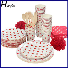 Disposable Wedding/Party Paper Tableware Set,Paper Dinnerware Set SC168