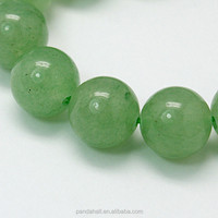 Good Cutting 12mm Green Aventurine Quartz Beads