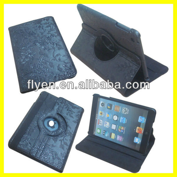 Manufacturer Wholesale Case for iPad Stand 360 Degree Rotation Smart Cover Stand Magnetic 2013 New
