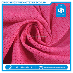 Low stretch 100% polyester micro mesh sports fabric dryfit from china supplier