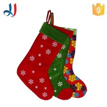 2017 Hot sale new fashion factory price tube flocked cloth christmas stocking for Chirstmas invitation with Trade Assurance