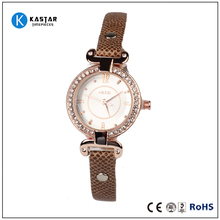 Popular fashion dress quartz watch , leather band watch