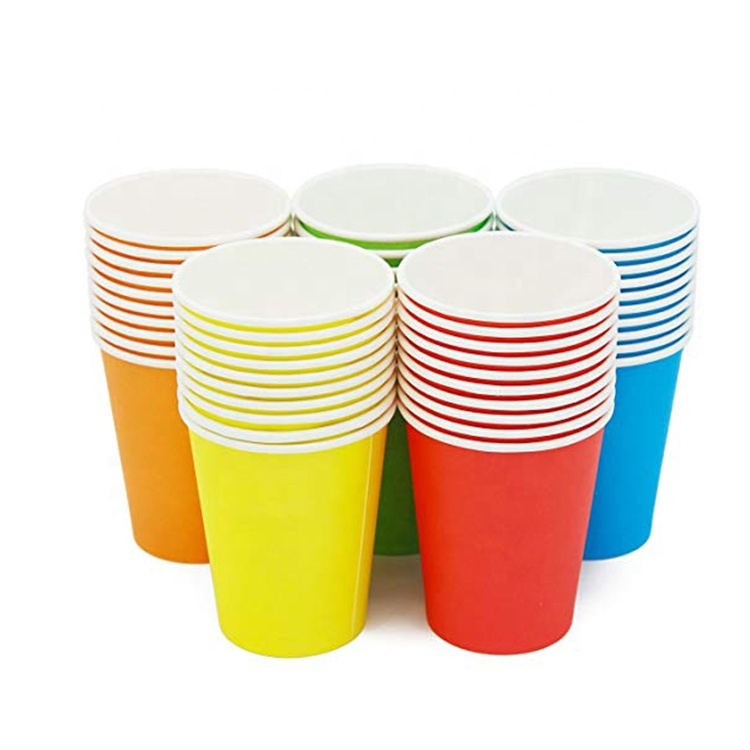 Disposable custom printed single wall paper cup for cold drink