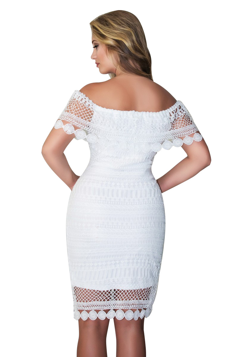 Dew shoulder wipes bosom lace mini dress for women