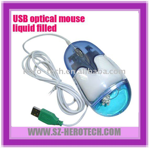 liquid gift mouse with customized floater for promotion