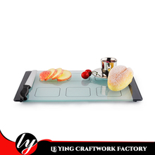 Non-slip Frosted and Quadrilled Vegetable Tempered Glass Cutting Board