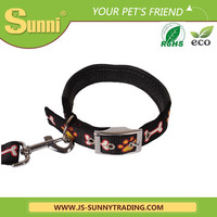Wholesale plain nylon dog collars and leashes