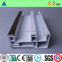 wooden color 80 series China manufacture plastic pvc profiles for windows and doors