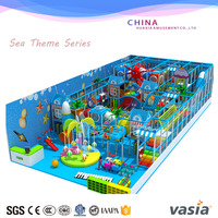 Sea Theme Custom Size kids indoor playground franchise for sale