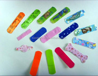 Different color band aid plasters