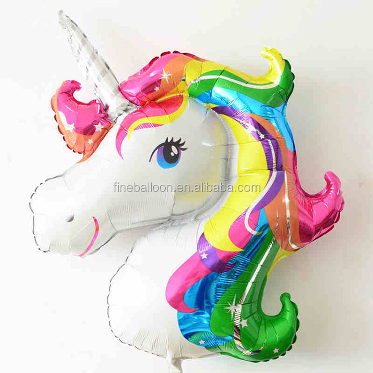 2017 hot sale Inflates toys for parties cartoon fly unicorn foil balloon