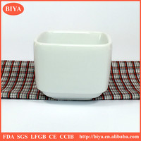 High-temperature white porcelain square shape coffee cup tea ceramic mug no handle