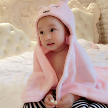 Baby Bath Towel 2017 New Lovely Animal Flannel Cartoon Kid's Hooded Towels Soft Shape