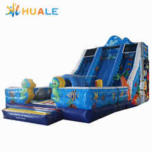 Commercial Used Inflatable Seahorse Water Slide Inflatable Giant Slide Fish for Autumn