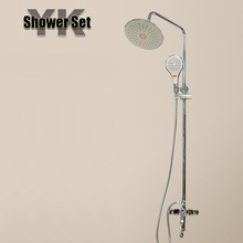 Factory price new silver rain bathroom shower set
