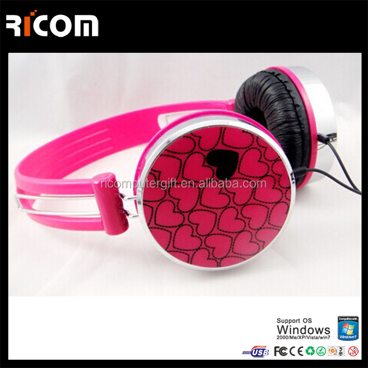 headphone noise cancelling,ear hanging headphone,headphone with microphone--HO7048--Shenzhen Ricom
