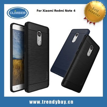 Brushed design back case for xiaomi redmi note 4 pro original iPaky cover