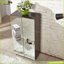 tall shoe storage cabinet with mirror