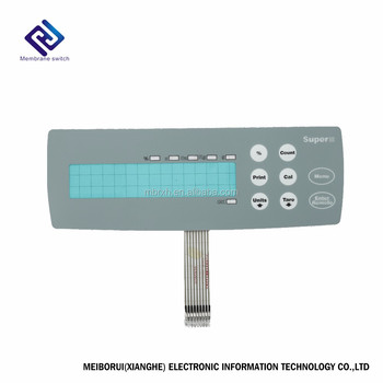 OEM flat touch membrane switch keypad