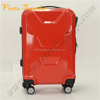 Cool Design Red ABS Luggage with 360 Free Wheels