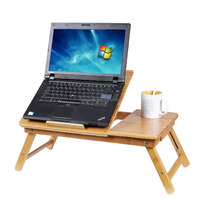 World best selling products wholesale Portable folding Desk Bamboo Laptop table