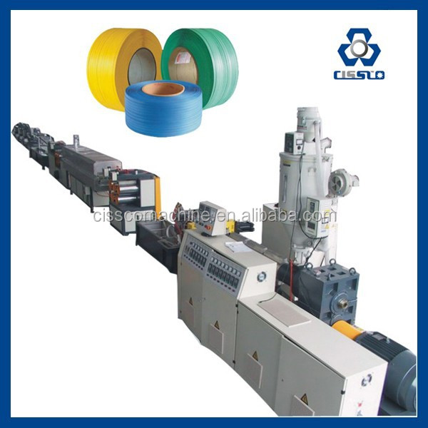 PET STRAP BAND EXTRUSION LINE, GREEN EMBOSSED PET STRAP MAKING MACHINE, PET/PP STRAP BAND EXTRUDING MACHINE