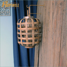 Cheap rustic bamboo brown moroccan lantern