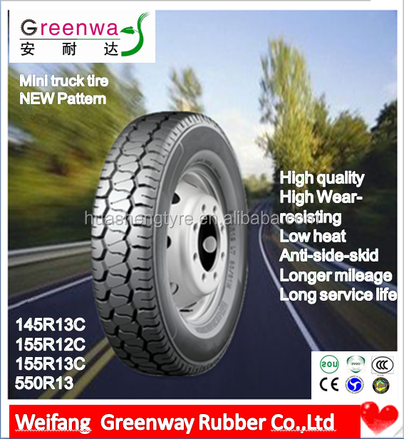 China factory NEW Designed TBR tires 145R13C 155R12C 155R13C 5.50R13 with high quality tbr steel belt