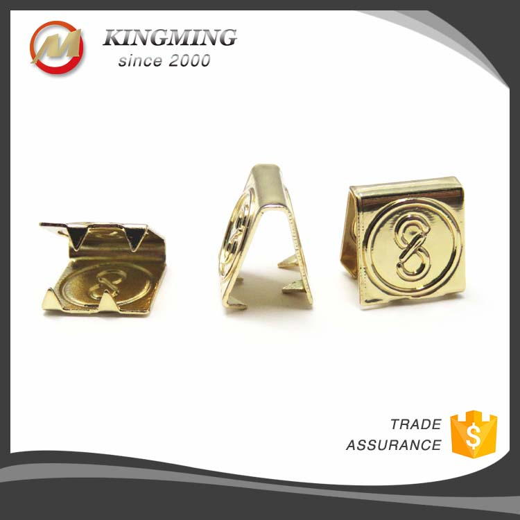 Gold 10mm Custom Engraved Logo Metal String Cord Ends