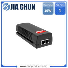 Tunggal Pelabuhan 10/100 Mbps 19 W 802.3af PoE Injector