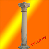 Outdoor Decoration Roman Marble Stone Column Pillar