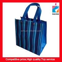 PP Laminated Blue Strips Water Proof Non Woven Tote Bag