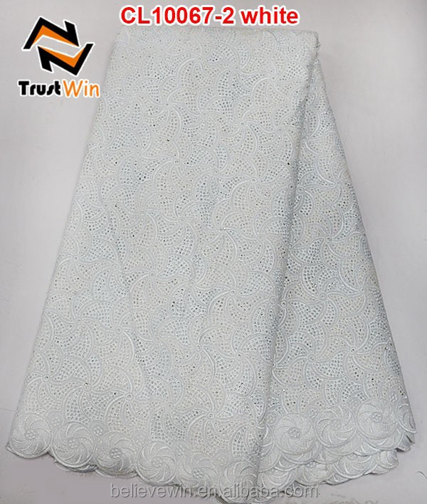 eyelet voile lace white swiss cotton voile lace with stones
