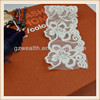 Cheap custom white organza embroidered flower lace trimming for garment decoration on sales
