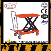 Hand operated man folding trolley lift truck