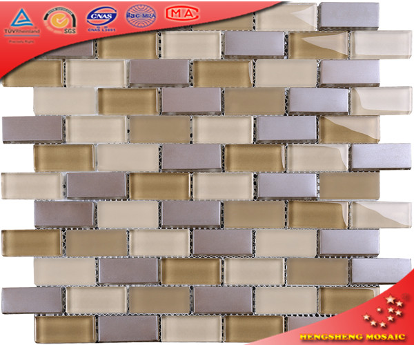Wholeslae decoration glass crystal mosaic kitchen and bathroom tiles for wall